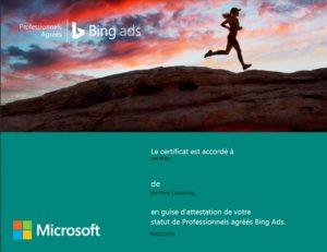 Certification Bing Ads